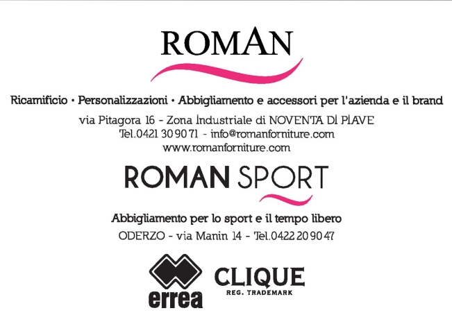 ROMAN - Abbigliamento per Società Sportive, Aziende e Club - Sconto del 15%