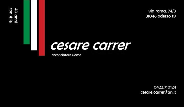 CESARE CARRER - Acconciature Uomo - Sconto del 10%
