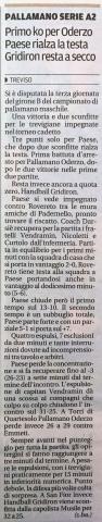 Gazzettino di Treviso del 27 ottobre 2015