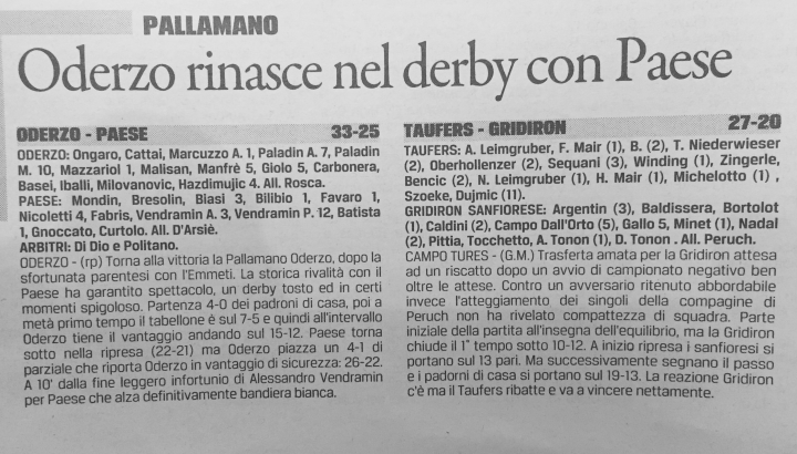 gazzettino tribuna 3.11.2015